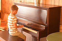Playing Piano in Nordlaw Lodge