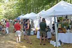 Booth with art and crafts at Pert Fair