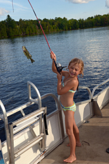 Exciting time fishing on Bob's Lake, Lanark County, Ontario