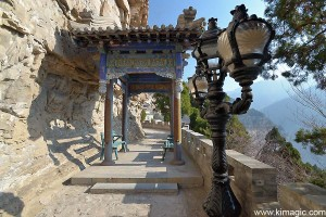Tassel Gate on the way to the Universe Pagoda in MianShan Scenic Area