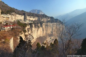 Breathtaking views on the way to Universe Pagoda in Mianshan Scenic Area