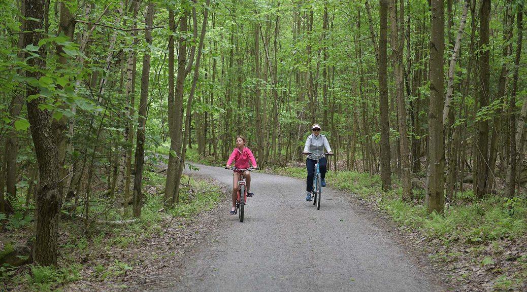 Yamaska National Park, biking trail