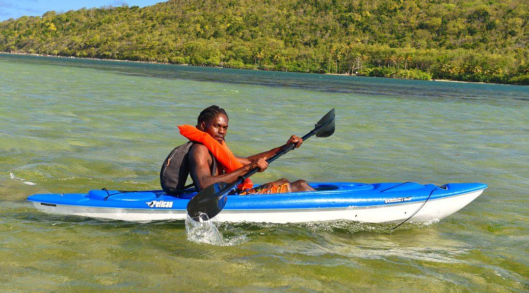Kayaking to Praslin Island, St. Lucia