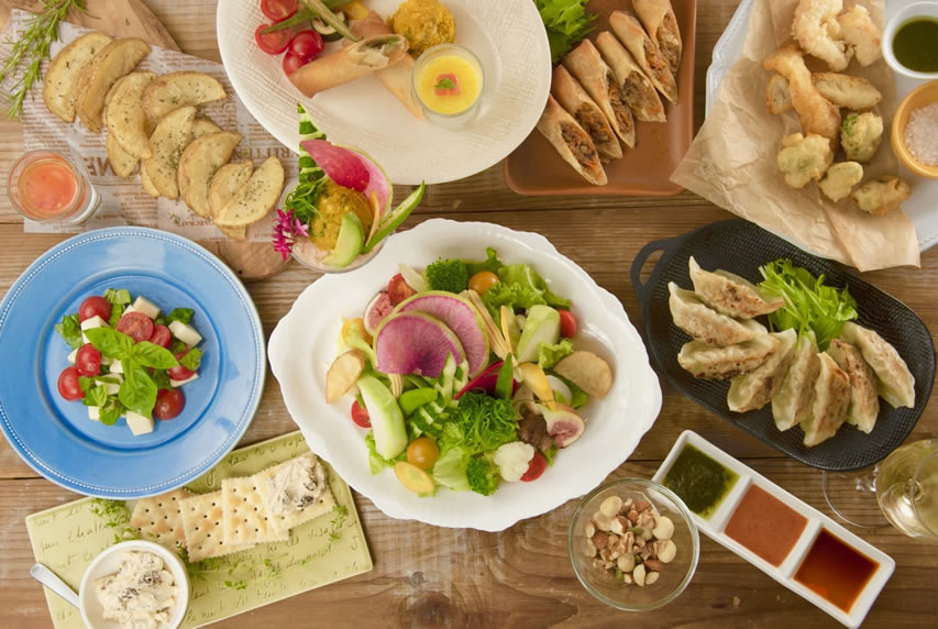 Great variety of vegetarian foods offered in Tokyo Cafes